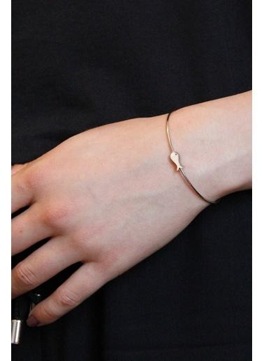 Argentum Concept Balık Motifli Gümüş Bilekten Geçmeli Kelepçe Gümüş